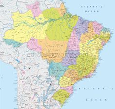 brazil map - Free Large Images