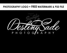 Photography logo FREE watermark black and white logo by Signtific
