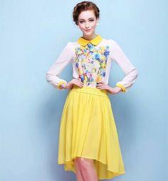 2014 new spring/summer chiffon blouses  women blouses  shirt   tops for women   $15.98