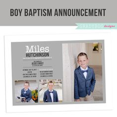 Boy Baptism Invitation, It's Great to be LDS Baptism Boy - Gradybug Designs Baptism Photos, Baptism Ideas, Boy Baptism, Photo Invitations, Baptism Invitations, Wedding Invitations, Baptism Announcement, Baptism Cards, Primary Lessons