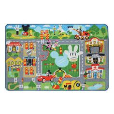 Mickey Mouse Game Rug w/ Toy - Kmart
