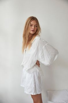 the 03 loungewear set in white – Deiji Studios