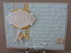 CARD: Many Thanks from Harvest of Thanks | Stampin Up Demonstrator - Tami White - Stamp With Tami Stampin Up blog