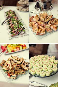 """Yummy Finger Food! Helps set the vintage-y """"tea party"""" tone"""