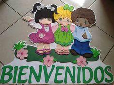 Mural de bienvenida. Classroom Organization, Baby Boy Shower, Preschool Activities, Paper Dolls, Crafts To Make, Lily, Merry, Handmade, Teaching Supplies