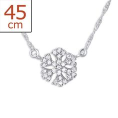 Snowflake Real Sterling Silver Necklace