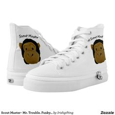 Scout Master- Mr. Trouble. Funky Sneekers Printed Shoes