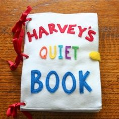 This adorable felt quiet book would make the perfect gift for any toddler. I wanna make this for Mason and Carly's birthdays! Anyone have a sewing machine? lol