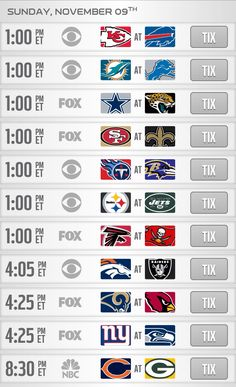 Week 10 #NFL games. Bye-week for: Texans, Colts, Vikings, Patriots, Chargers, and Redskins.  Who are you rooting for? What do you think is going to be the best game?