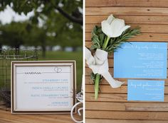 Love the single tulip with rosemary and sage accents!. Photo by Amber Glanville Photography