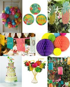 Tropical Wedding Styling Ideas Mood Board from The Wedding Community