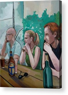 People Acrylic Print featuring the painting Triumvirate by Carmen Stanescu Kutzelnig Thing 1, Framed Prints, Canvas Prints, Acrylic Sheets, Any Images, Got Print, High Gloss, Clear Acrylic, Your Image