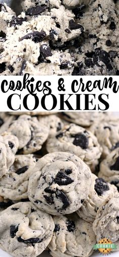 Cookies & Cream Cookies are made with pudding mix and Oreo cookies for a perfect. - Cookies & Cream Cookies are made with pudding mix and Oreo cookies for a perfect. Cookies & Cream Cookies are made with pudding mix and Oreo cookies. Cookies Oreo, Oreo Treats, Oreo Pudding Cookies, Oreo Pudding Dessert, Chocolate Cookies, Sugar Cookies, Cookies And Cream Cake, Fun Cookies, Chocolate Desserts