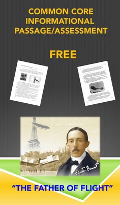 FREE! Perfect for close reading with your class and aligned to the Common Core Standards. Learn about the man who some say flew before the Wright Brothers.