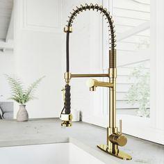 Brass Kitchen Faucet, Kitchen Taps, Kitchen Handles, Kitchen Reno, Copper Kitchen, Island Kitchen, Kitchen Pantry, Kitchen Cabinets, Kitchen Appliances