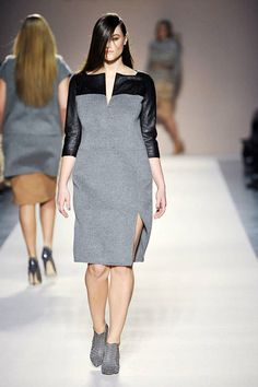 See the entire collection from the Elena Miro Fall 2012 Ready-To-Wear runway show. Lady L, Fall Collections, Moncler, Elie Saab, Curvy Fashion, Fashion Forward, Ideias Fashion, Peplum Dress, Ready To Wear