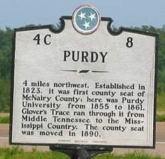 The ultimate Ghost Hunters paradise. Purdy, TN. Home of Fielding Hurst, a Civil War demon whose home is still standing, but just barely.
