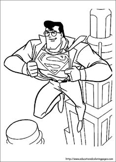 Superman Changes As Hero Coloring Picture For Kids