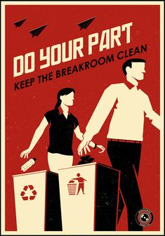 Workplace propaganda posters (by Steve Thomas)