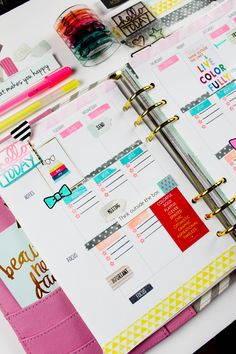 CliqueKits: Planner Pages with Tiffany