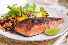 Spiced barbecue salmon