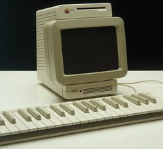 The Apple Snow White 2 . . . music workbench . . . never released, designed in 1982. I'm diggin' the monotonal keyboard