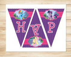 My Little Pony Party Printables free with Instant Download or have us personalize them for you!