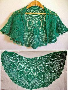 Crochet shawl 606437906048594327 - Crochet Lace Capelet Pattern – Beautiful More Source by roselynebouvart Poncho Au Crochet, Crochet Cape, Crochet Shawls And Wraps, Crochet Scarves, Crochet Clothes, Free Crochet, Knit Crochet, Irish Crochet, Thread Crochet