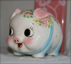 like my little beauty. This Little Piggy, Little Pigs, My Little Beauty, Happy Pig, Money Bank, Cute Piggies, Rabbit Art, Vintage Valentines, Vintage China