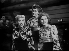 Andrews Sisters: Corns for My Country Country Dance, Country Music, Glenn Miller, Collective Soul, Gary Clark Jr, Vintage Videos, Rare Videos, Halestorm, Power Metal