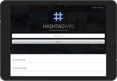 HashtagWiki - iPad Application Horizontal Interface Hashtag Generator, Trending Hashtags, Flat Screen, Ipad, Blood Plasma, Flatscreen, Dish Display