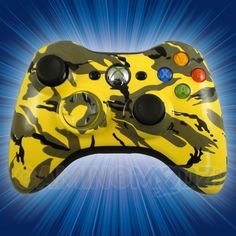 This is our Yellow Camo Modded Xbox 360 Controller. We have released our hydro dipped series of modded xbox 360 controllers and this model is one of the first in that series. You can purchase this controller and many other custom Xbox 360 controllers exclusively at GamingModz.com! Watch the video now: http://www.youtube.com/watch?v=2laKRj11hLU=share