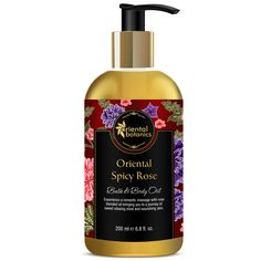 Oriental Botanics Bath & Body Oil (Oriental Spicy Rose) Perfect For Adding To Your Bath Or Using Directly On Your Body – Awesome, Soothing, Sensual, Fragrant Oil Formulation For Moisturizing Skin and Aromatherapy.