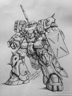 GUNDAM GUY: Awesome Gundam Sketches by VickiDrawing [Updated 7/9/15]