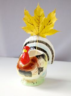 Vintage Turkey Planter Thanksgiving Home Decor by VintageCommon, $16.99