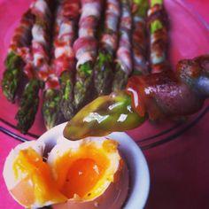 Aspargus, panchetta & eggs