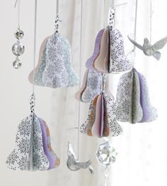vintagerosewinterwonderland:  pattern here { via ariadne at home }these would be cute made of old book pages