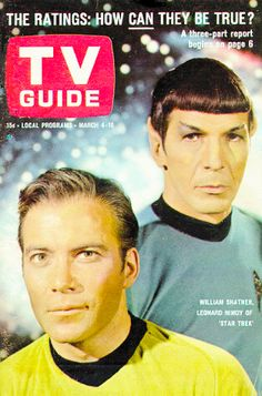 "William Shatner and Leonard Nimoy as Captain Kirk and Spock from the 1966 NBC TV show ""Star Trek"" on the cover of TV Guide magazine William Shatner, Star Trek Original Series, Star Trek Series, Star Trek Tv, Star Wars, Science Fiction, Starship Enterprise, Leonard Nimoy, Star Trek Universe"