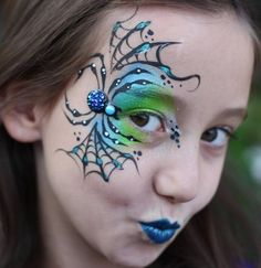 "I always tend to pick such ""serious"" face photos. ✨… I always tend to pick Spider Face Painting, Eye Face Painting, Adult Face Painting, Body Painting, Face Painting Tutorials, Face Painting Designs, Halloween Make Up, Halloween Face, Tinta Facial"