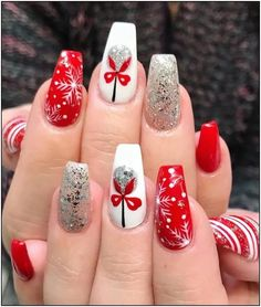 155 festive christmas nail art designs & ideas page 26 | Armaweb07.com