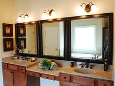 After Modern Bathroom, Contemporary Bathrooms, Custom Mirrors, Beveled Mirror, Diy Home Improvement, Bathroom Mirror, Modern, Mirror, Contemporary Bathroom