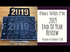 Plan With Me | 2019 Year in Review in my Bullet Journal 💜 Oops a Daisy UK - YouTube Bullet Journal Contents, Bullet Journal Set Up, Bullet Journal Inspiration, Annual Review, New Things To Try, End Of Year, Daisy, How To Plan, Youtube