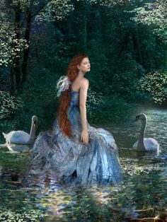 61 Ideas digital art girl fantasy lakes for 2019 Amazing Paintings, Fantasy Paintings, Fantasy Art, Musica Celestial, Water Pictures, Happy Pictures, Lily Pond, Thomas Kinkade, Digital Art Girl