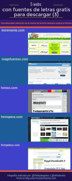 5 webs con fuentes de letras gratis (3). #infografia