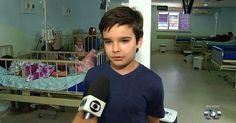Menino faz campanha para arrecadar remédios para crianças com câncer