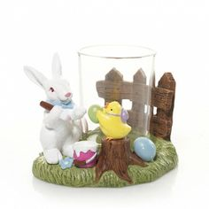 Decorate your home with this Bunny Hop Decorating Eggs Votive Candle Holder! (Nan bought this on our last trip!)
