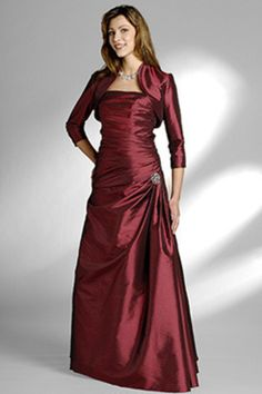 Strapless Floor Length A Line Taffeta Mother Of The Bride Dresses Under 200