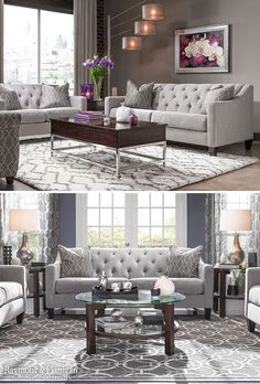 Take classic inspirations, put them on a chic frame and the result is the fabulous new Beckham living room collection. This set blends modern and traditional elements beautifully with features like sleek track arms, tapered legs and button tufting.