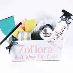 Excited to share this item from my shop: Zoflora Hamper Personalised, RIVA Gifts, Mrs Hinch, Cleaning Gift Cleaning Caddy, Cleaning Spray, Cleaning Hacks, Bottle Cleaner, Christmas Hamper, Gift Hampers, Spray Bottle, Flute, Christmas Time