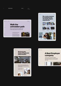 Bornfight — Digital Innovation Company on Behance Minimal Website Design, Modern Website, Website Design Layout, Layout Design, App Design, Wireframe Design, Grid Design, Graphic Design, Logo Design